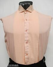 Boys Medium Peach/Orange Wing Collar Tuxedo Shirt Retro Vintage Costume Theater