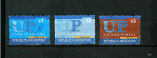 ARGENTINE  # 2221-2223  *POSTAL UNITY* -  SYNCOPATION PERFORATION