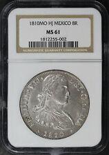 1810-Mo Hj Mexico 8 Reales NGC MS-61