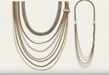 Chloe + Isabel Tri-Color Braided Chain Convertible Necklace N232M - RARE