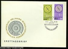 EAST GERMANY  CENTENARY OF THE INT'L TELECOMMUNICATION UNION SET FIRST DAY COVER