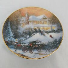 Thomas Kinkade Friends Welcome Old Fashioned Christmas Collector Plate No Coa