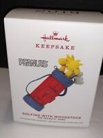 2019 HALLMARK Keepsake Ornament Limited Golfing with Woodstock New