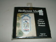 New listing Mill Hill Birdhouse Medley Cross Stitch Band Kit Flower Garden Houses Mhbm73 New