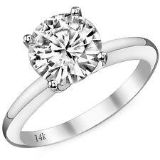 0.50 Quilate 14K Oro Blanco Anillo Solitario de Compromiso G-H SI3-I1 Diamante