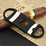 Cigar Cutter Stainless Steel Double Blades Guillotine Knife Pocket Scissors