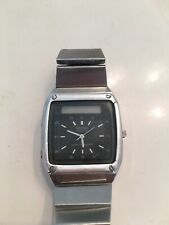 Vintage Seiko James Bond Digital Analog LCD Watch H357-5049 Rare All Silver Case