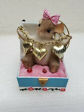 Charming Tails Three's A Charm Treasure Chest Girl Mouse Gift Handcrafted