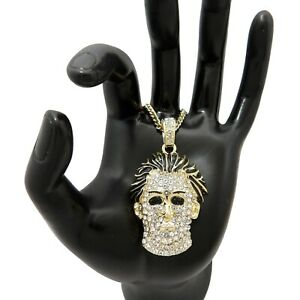 MONEYBAGG YO MICHAEL MYERS PENDANT WITH VARIOUS LENGTH CUBAN CHAINS