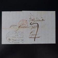 1840 LETTRE COVER MARQUE POSTALE NAPLES POUR LYON CAD ROUGE OUTRE MER MARSEILLE