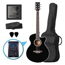 Artist Lspsceq Black Small Body Beginner Acoustic Electric Guitar -