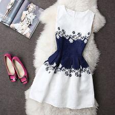 2017 Summer Autumn New Womens Dress Vintage Digital Evening Party Print Dresses