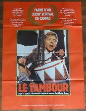 Ancienne Affiche Cinéma. LE TAMBOUR. Affiche Rouge. Cinema Movie Poster.