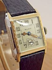 Classic Two Tone Bulova Art Deco Gents wrist watch 10AN 15 jewel serviced
