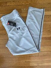 UNDER ARMOUR Grey Heat Gear MENS SIZE XL Baseball/Softball Pants.