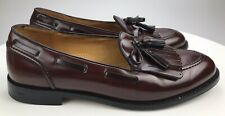 Vintage Cole Haan Burgundy Leather Kiltie Tassel Loafers Men 11.5 D Made In USA