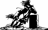 "COWGIRL STANDING WITH HORSE Car Truck Bumper JDM Fun 9/"" Vinyl Decal Sticker"