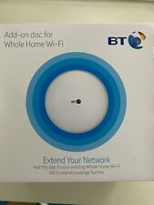 BT 091073 Whole Home Disc Wi-Fi Extender, white disc.