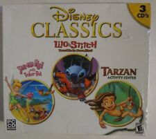 Disney Classics PC Games 3 in 1 Lilo and Stitch Tinkerbell Tarzan  New/Sealed