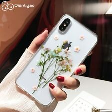 Qianliyao Dried Real Flower Cases For iPhone XS Max XR Case Handmade Clear Soft