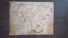 """Carte  """" De la Hongrie à l'Autriche """"  1664  P. DuVal  Paris"""