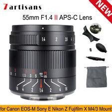 7artisans 55mm F1.4 II APS-C Manual Focus Lens For Canon Nikon Sony Fujifilm M43