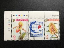 Singapore Stamps- Singapore '95 Orchids Series(4th) Gutter Pairs-CTO