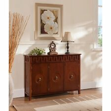 Kings Brand - Walnut Finish Wood Console Sideboard Buffet Table With Storage