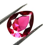 Pear Cut Burma Ruby Gemstone VS Clarity 2.15 Carat 100% Natural AGSL Certified
