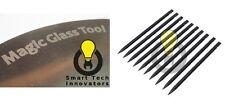 10 Black Plastic Spudger & 1 Magic Glass Tool Smartphone & iWatch Opening Tool