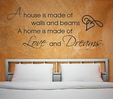 A House Is Made Of Walls And Beams Quote Wall Art Mural Decal Sticker