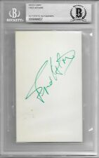 FRED ASTAIRE Signed Index CARD Actor SINGER TOP HAT Funny FACE Ginger Rogers BAS