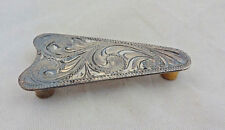 Ear Arrow Concho Hansen Sterling Silver Overlay Headstall Screw Antiqued Tack
