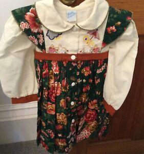 Pretty originals size1 around 18/24m stunning vintage dress excellent condition