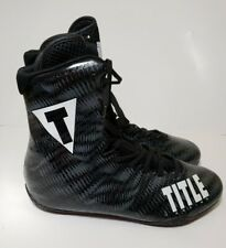 Title Boxing Predator Lightweight Mid-Length Boxing Shoes Carbon