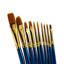 10pcs Art Paint Brush Set for Watercolor, Oil, Acrylic Paint, Face Painting,Nail