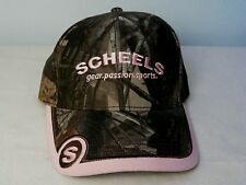 Womens Pink Camouflage Scheels Baseball Cap / New w/o Tag