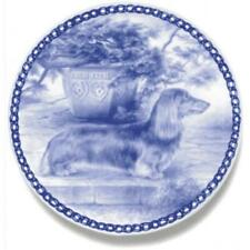 Dachshund - Miniature Longhaired - Dog Plate made in Denmark from the finest Eur