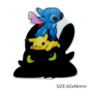 5 pc. Planar Resin Hair Bow Center WHOLESALE 1106686 Pikachu, Stitch, Toothless