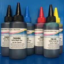 6X100ML DYE PRINTER REFILL INK FOR CANON PIXMA BK/C/M/Y/GY