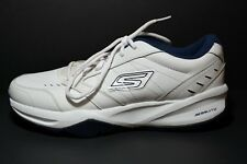 SKETCHERS ACE GO TRAIN WHITE/NAVY BLUE  SIZE 9.5 in EUC