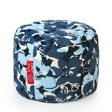Style Homez Round Canvas Floral Printed Bean Bag Ottoman Stool Large Cover