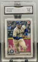 2020 Topps Bowman Kyle Lewis #78 Rookie RC Graded GMA 10 - PSA Mariners