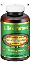 Life's Fortune Multi Vitamin Mineral Natural Energy 180 Fast same day ship