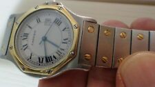CARTIER SANTOS OCTAGANAL, AUTOMATIC, SOLID 18K GOLD & STAINLESS STEEL UNISEX