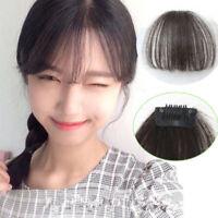 Thin Neat Air Bangs Real Natural Hair Extension Clip In Front Hair Bangs Fringe