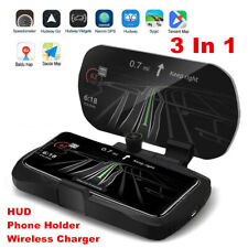 HUD Qi Wireless Car Charging Charger Mount Non-slip Phone Holder Stand 10W