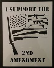 "2nd Amendment Flag Gun Guns 8.5"" x 11"" Custom Stencil FAST FREE SHIPPING"