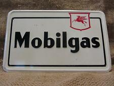 Vintage Embossed Mobilgas Motor Oil Company Sign > Antique Old Gas Auto 9351