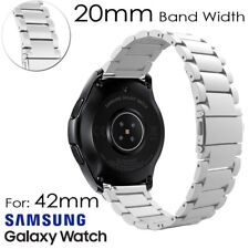 Link Tool + Stainless Steel watch band strap for Samsung Galaxy Watch 42 46mm